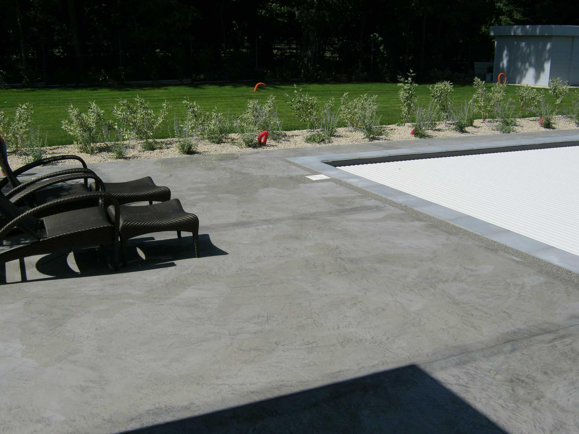Contour piscine composite fabulous terrasse piscine beton - Cabane de jardin sans dalle aixen provence ...