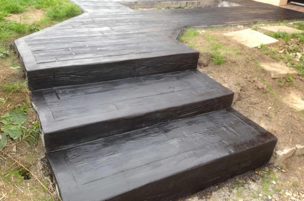 Escalier et terrasse les ma ons du paysage for Piscine yvetot