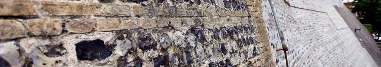 Mur brique silex